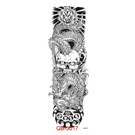 tattoos white dragon vs skull dangerous scary totem 45