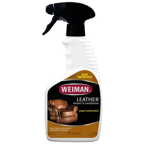 best leather couch cleaner and conditioner weiman leather cleaner conditioner 16 fl oz walmart com