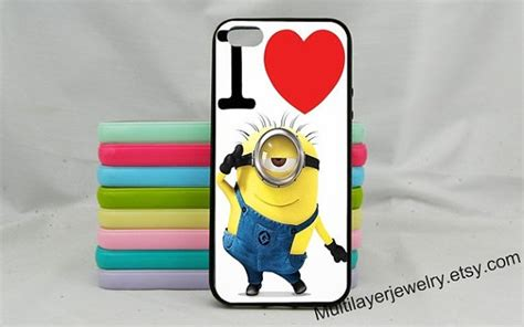 Minion 3d Iphone 4 4s minions despicable me iphone 5 5s personalized 3d