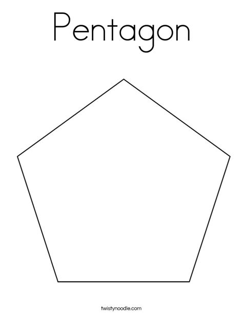 pentagon template pentagon coloring page twisty noodle