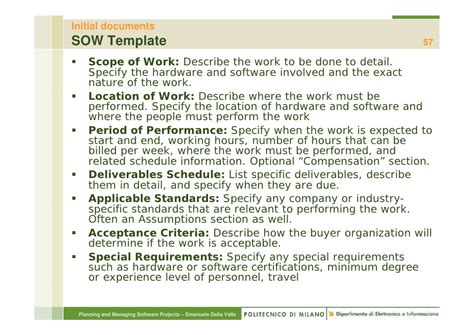 Overview Of Project Management P Msp2010 2 11 Software Scope Of Work Template