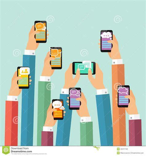 free mobile instant messenger mobile chat poster stock vector illustration of