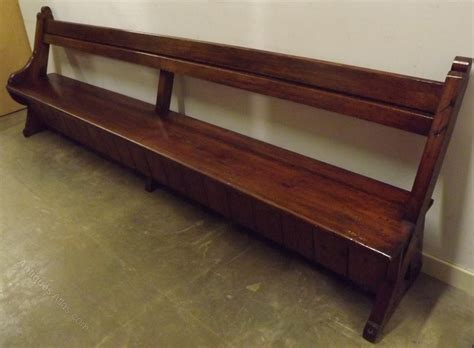 pew bench victorian 9ft solid pitch pine church pew bench