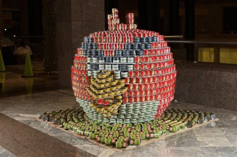 How To Build A Canned Food Sculpture | food sculptures 12 things you can make with tin cans