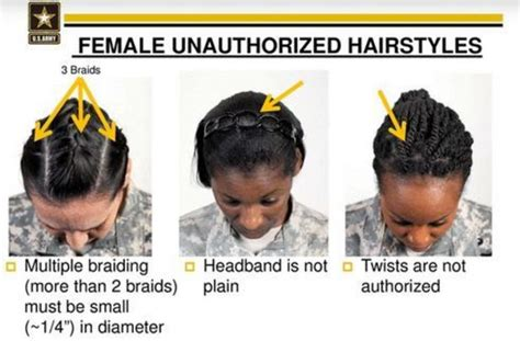 unauthorized hairstyles 670 1 army regulation 670 1 military hairstyles for women