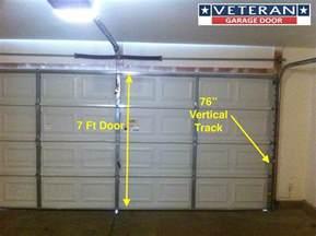garage door track height