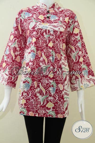 A Dress Big Jumbo Size Jersey Merah batik wanita ukuran big size warna merah cerah bls1014c