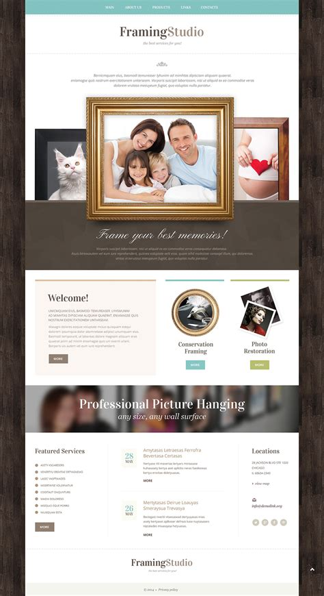Photo Studio Responsive Website Template 49385 Studio Website Template