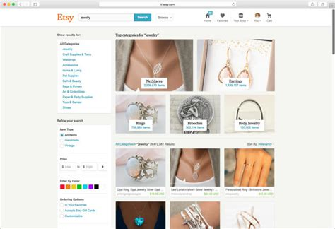 Search Etsy Etsy Boosts Search For Better Content Discovery User Engagement