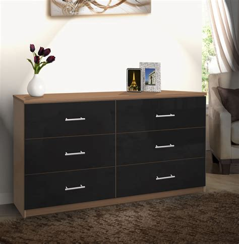 drawer double dresser chest  drawers contempo space