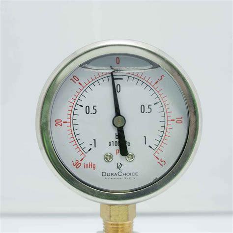 Vaccum Gauges liquid filled vacuum lower mount s s brass