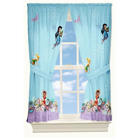 tinkerbell curtains disney fairies tinkerbell butterfly glow 4pc curtains set