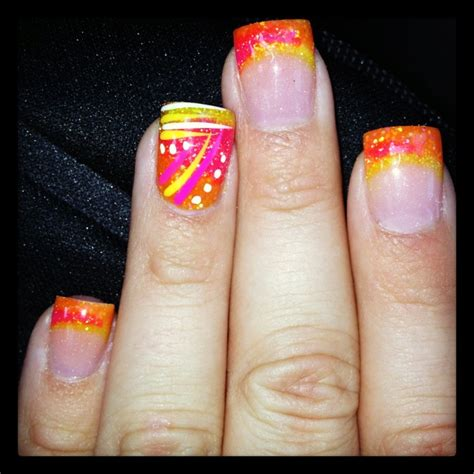 bright pattern nails best 25 bright acrylic nails ideas on pinterest