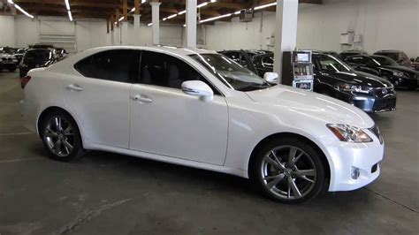 white lexus is 250 2008 2010 lexus is250 pearl white stock 126806 walk