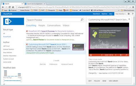 Sharepoint Search Sharepoint 2013 Search Preview For Documents Hosted In Sharepoint 2010 Melcher It