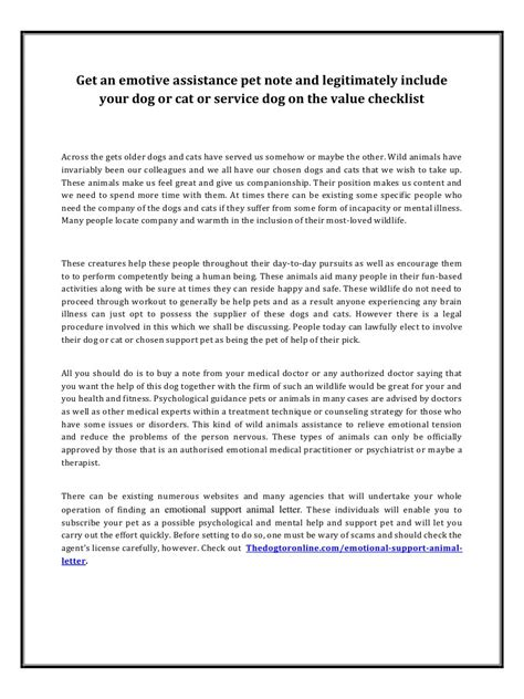 Emotional Support Letter Sle Emotional Support Animal Letter Pdf Pdf Archive