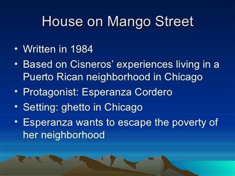 the house on mango street poverty theme sandra cisneros mango street