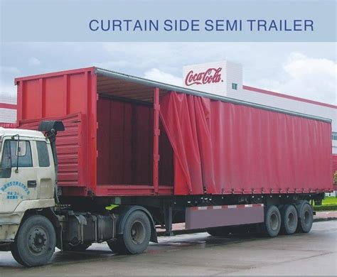 curtain side truck china 3 axle curtain side semi trailer photos pictures