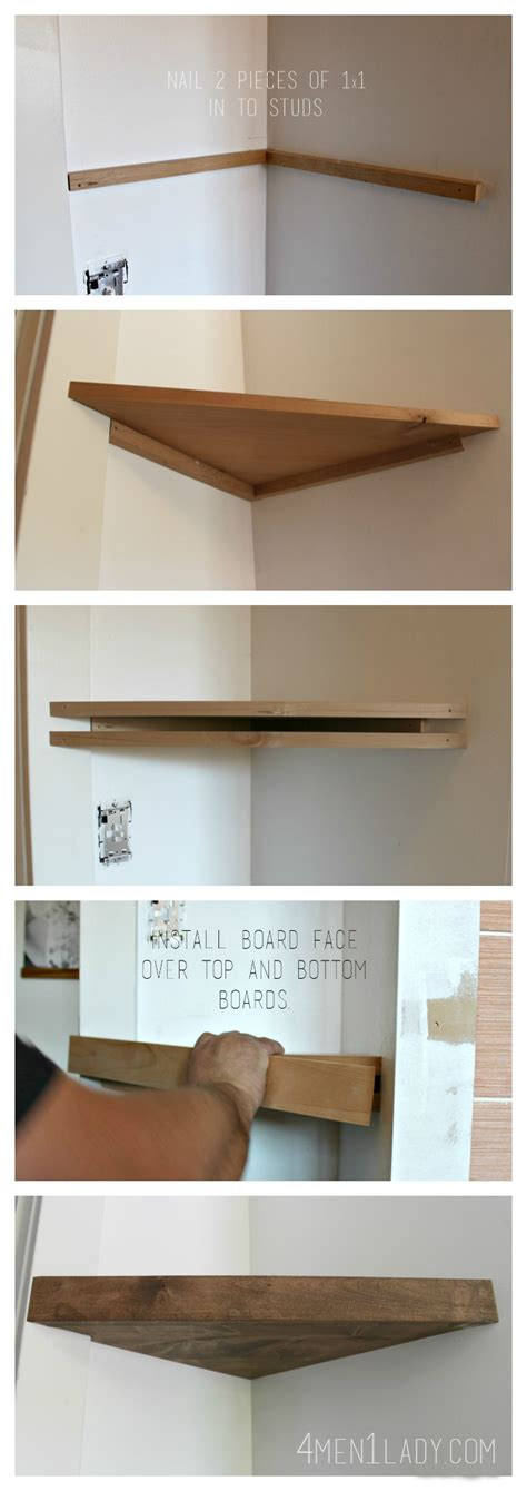 How To Build A Floating Corner Shelf by When Gives You Lemons Make Corner Floating Shelves 4 1 Bloglovin