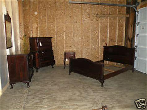 solid mahogany bedroom set rare antique 5 piece solid mahogany bedroom set ball and