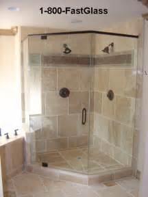 corner in tile shower
