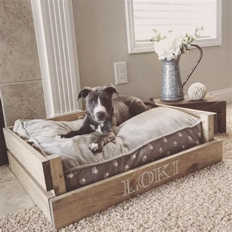 dog on bed farmhouse style dog bed tap the pin for the most