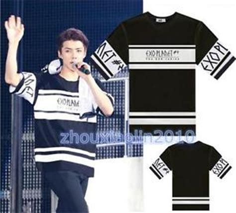 Kpop Exo Tshirt 2 kpop exo planet 2 concert t shirt 2nd sehun baekhyun