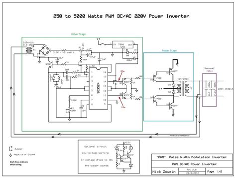 dc to 3 phase ac inverter circuit diagram build a 250 to 5000 watts pwm dc ac 220v power inverter