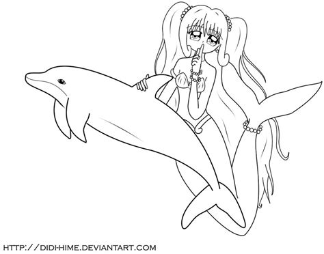 free coloring pages of anime mermaid