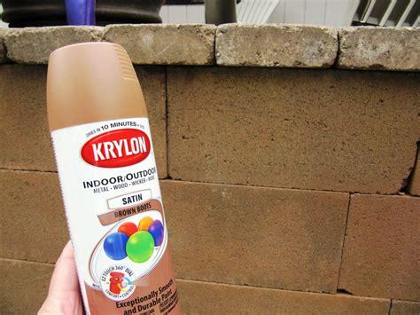 spray paint concrete lq designs concrete wall makeover