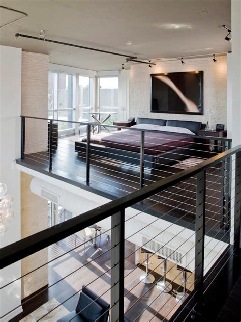 bedroom with loft modern penthouse remodel andreas charalambous hgtv