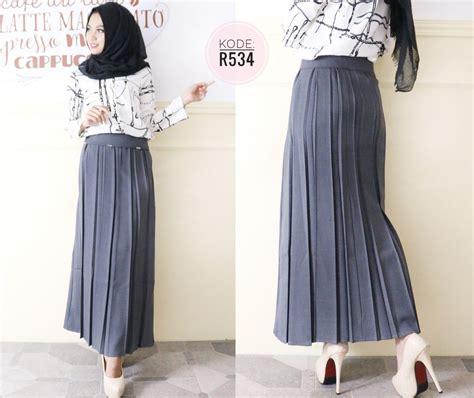 Rok Polos Benang rok formal plisket r534 baju style ootd