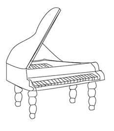 7 musical instruments coloring pages - Instrument Coloring Pages