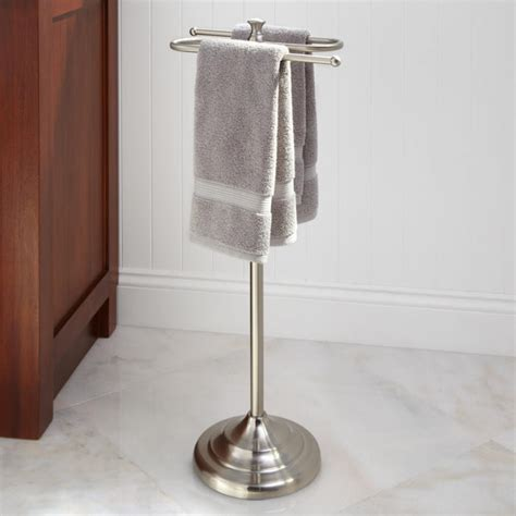 bath towel racks free standing smithfield free standing towel bar bathroom