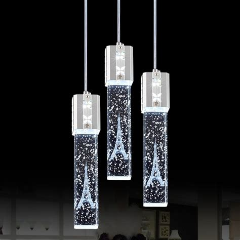 Wall Decorations For Dining Room triple crystal bubble shade led ceiling pendant light