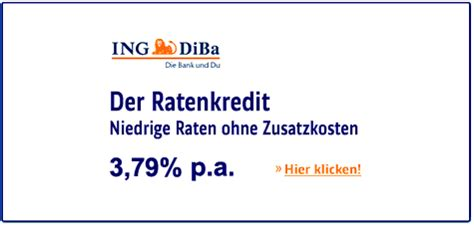 günstiger kredit diba kredit der ing diba bank mit ausf 252 hrlichen informationen