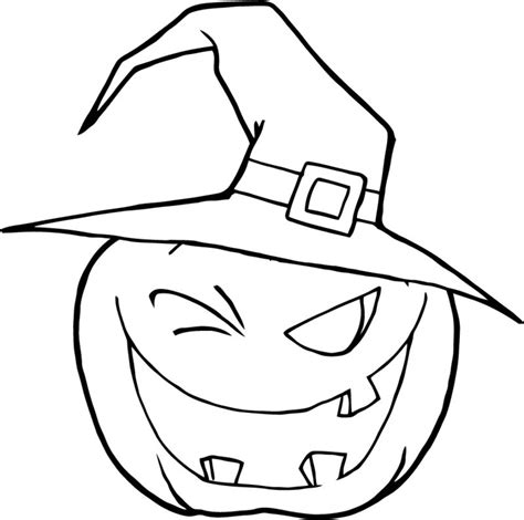 coloring page witch hat halloween ausmalbilder halloween zenideen
