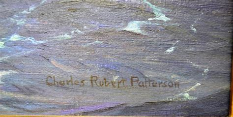 Bonia 5068 Gold signed on canvas by charles r patterson