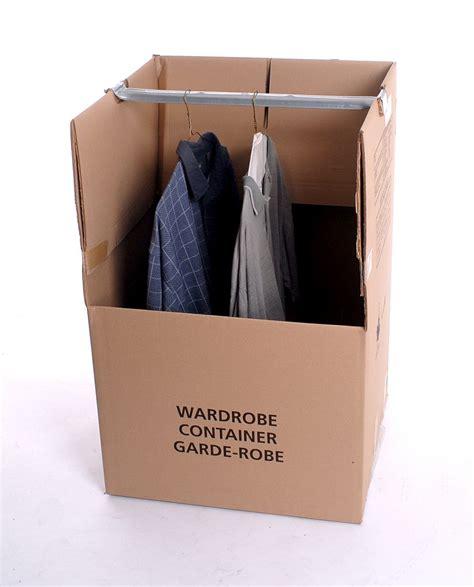Large Wardrobe Boxes - large hanging wardrobe moving box with bar boxed inn