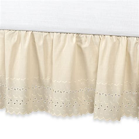 14 inch bed skirt buy vintage chic eyelet 14 inch bed skirt full ivory from bed bath beyond