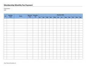 Payment Template monthly membership fee payment template free microsoft word templates