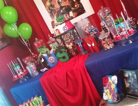 33 avengers theme party ideas for kids table decorating ideas