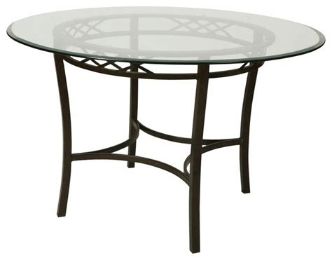 pastel atrium 48 inch bevel glass dining table in