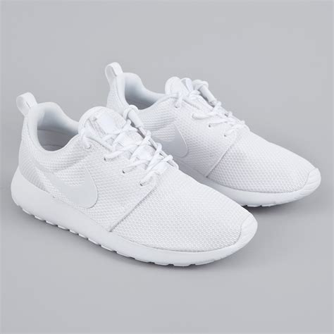 all white womens nike running shoes nike roshe one white white