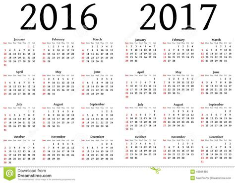 Printable Calendar 2016 To 2017 | image gallery 2016 2017 calendar printable