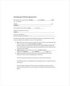 Parking Space Rental Agreement Template parking lease template 5 free pdf documents download