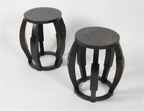 Drum Stool Table by Pair Of Woodern Drum Stools Side Tables At 1stdibs