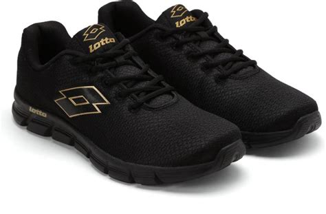 lotto vertigo running shoes buy black color lotto