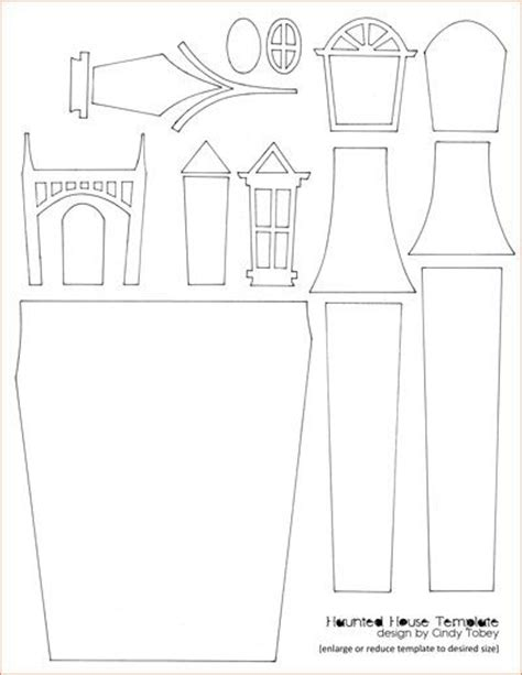haunted house template 1000 images about paper crafting on