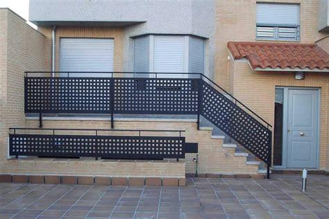 barandilla escalera exterior barandillas rejas y puertas alutherm
